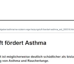 Heizungsluft fördert Asthma
